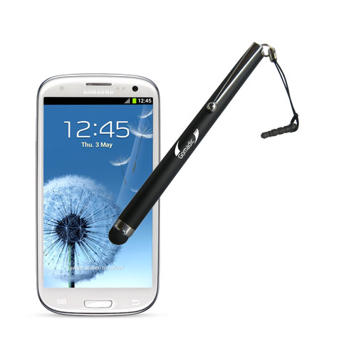 Gomadic Precision Tip Capacitive Stylus Pen designed for the Samsung Galaxy S III (Black Color) - Lifetime Warranty