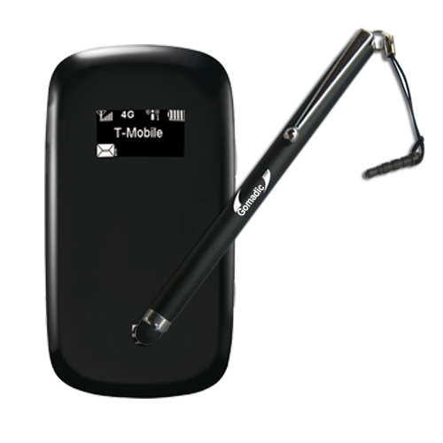 Gomadic Precision Tip Capacitive Stylus Pen designed for the T-Mobile 4G Mobile Hotspot (Black Color) - Lifetime Warranty