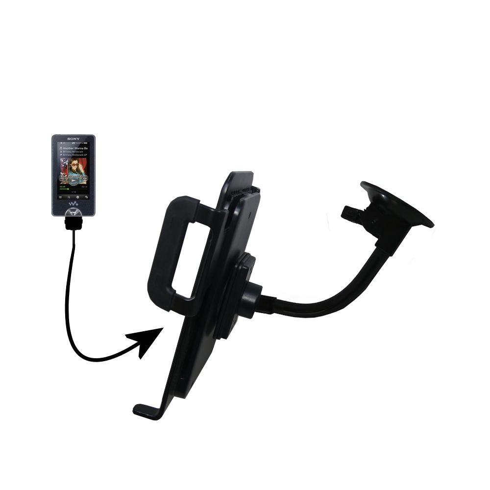 Gooseneck Holder Base with Suction Cup Mount compatible with Sony X Series Tablet