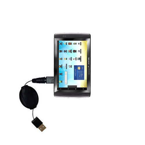 Retractable USB Power Port Ready charger cable designed for the Archos 101 Internet Tablet and uses TipExchange