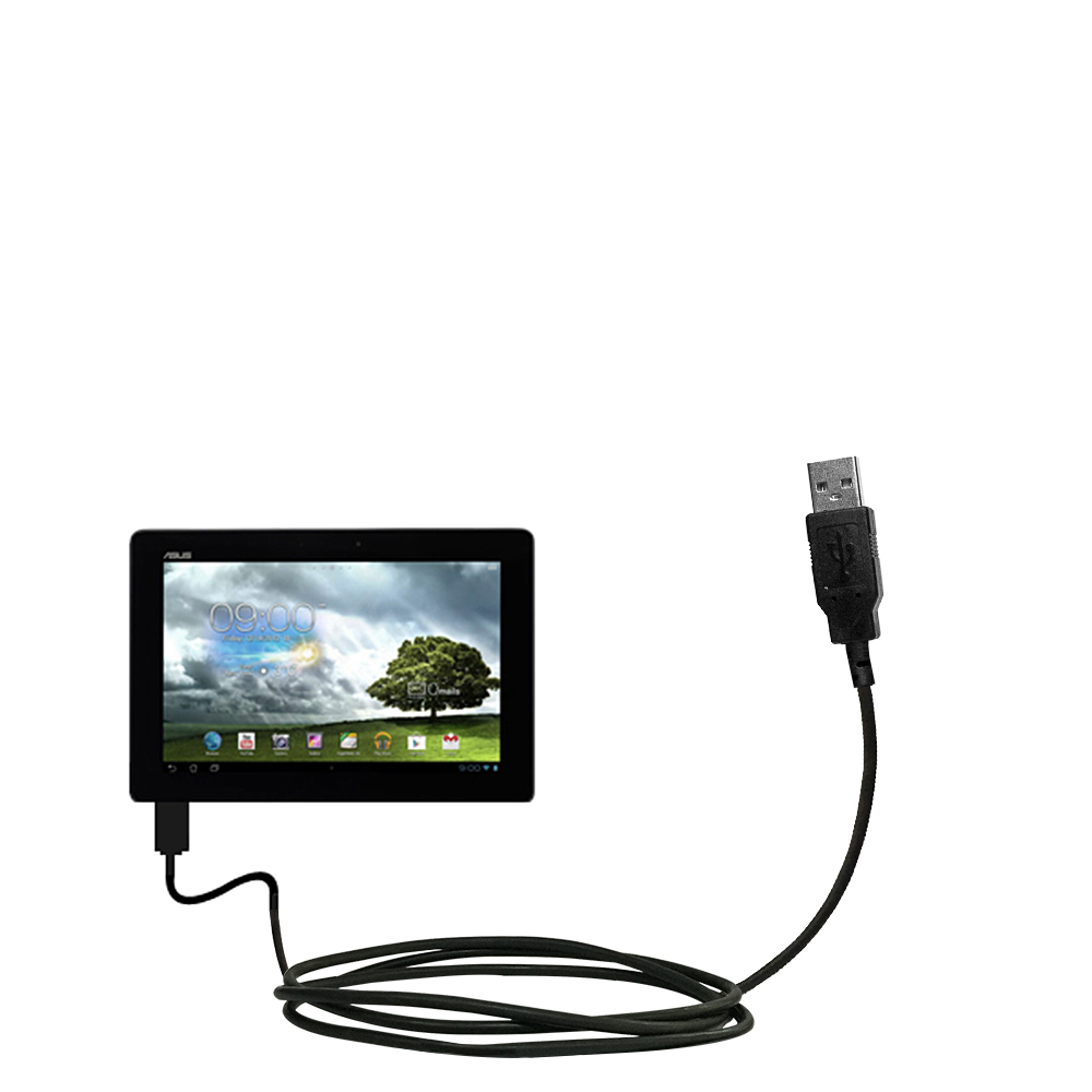 Classic Straight USB Cable suitable for the Asus MeMo Pad Smart 10 with Power Hot Sync and Charge Capabilities - Uses Gomadic TipExchange Technology