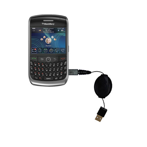 USB Power Port Ready retractable USB charge USB cable wired specifically for the Blackberry 8900 and uses TipExchange