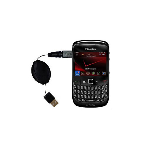 USB Power Port Ready retractable USB charge USB cable wired specifically for the Blackberry Bold 9650 and uses TipExchange