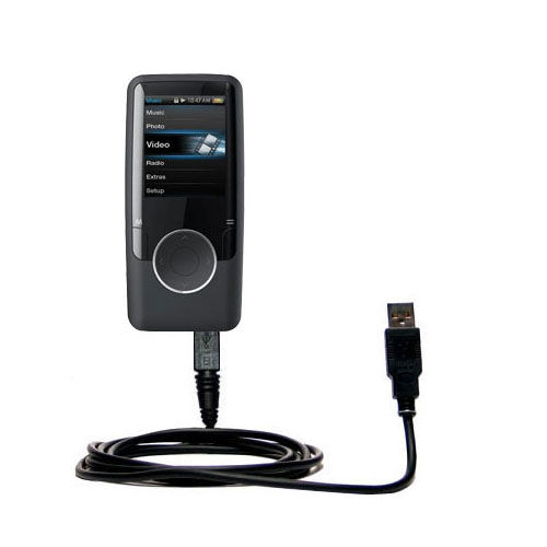 Classic Straight USB Cable suitable for the Coby MP620 Video MP3 Player with Power Hot Sync and Charge Capabilities - Uses Gomadic TipExchange Technology