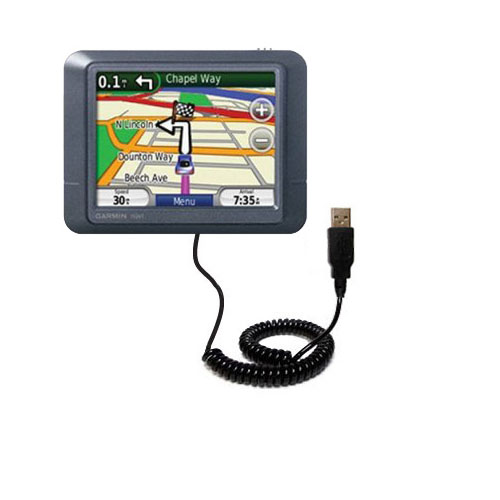 Coiled USB Cable compatible with the Garmin Nuvi 255