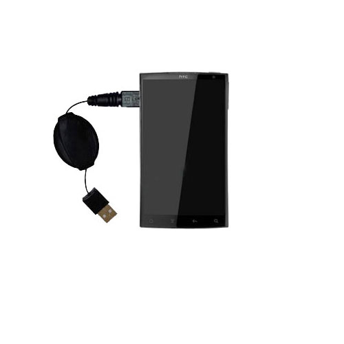 USB Power Port Ready retractable USB charge USB cable wired specifically for the HTC Zeta and uses TipExchange