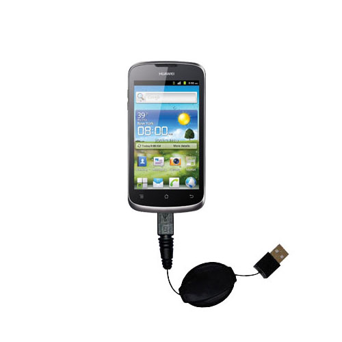 USB Power Port Ready retractable USB charge USB cable wired specifically for the Huawei U8815 and uses TipExchange