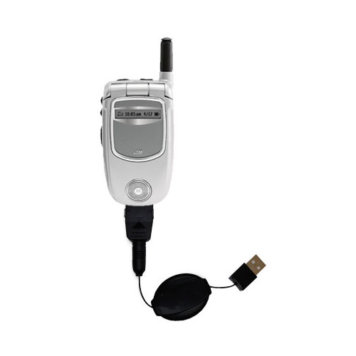 USB Power Port Ready retractable USB charge USB cable wired specifically for the Motorola i730 and uses TipExchange