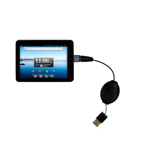 Retractable USB Power Port Ready charger cable designed for the Nextbook Premium8 Tablet and uses TipExchange