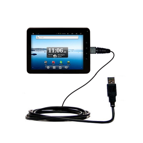 Classic Straight USB Cable suitable for the Nextbook Premium8 Tablet with Power Hot Sync and Charge Capabilities - Uses Gomadic TipExchange Technology