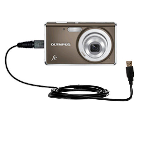Digital Camera Cords : Classic straight usb cable suitable for the olympus fe