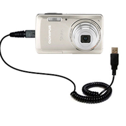 Digital Camera Cords : Coiled power hot sync usb cable suitable for the olympus
