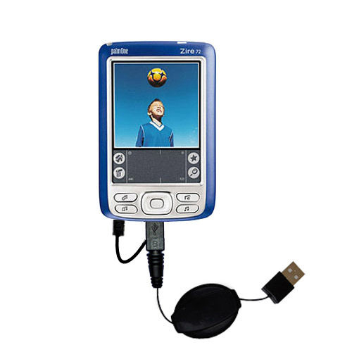 USB Power Port Ready retractable USB charge USB cable wired specifically for the Palm palm Zire 72s and uses TipExchange
