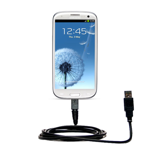 Classic Straight USB Cable suitable for the Samsung Galaxy S III with Power Hot Sync and Charge Capabilities - Uses Gomadic TipExchange Technology