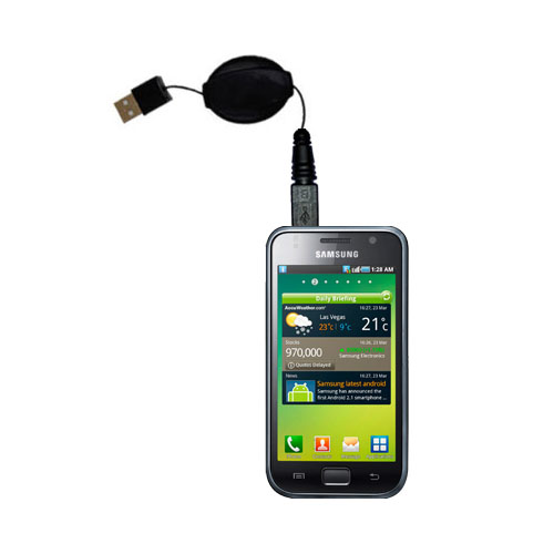 USB Power Port Ready retractable USB charge USB cable wired specifically for the Samsung Galaxy S and uses TipExchange