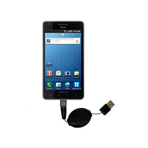 USB Power Port Ready retractable USB charge USB cable wired specifically for the Samsung Infuse 4G and uses TipExchange