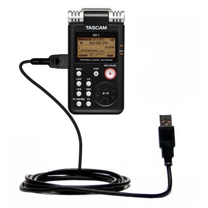 classic straight usb cable suitable for the tascam dr 1 with power hot sync and charge. Black Bedroom Furniture Sets. Home Design Ideas