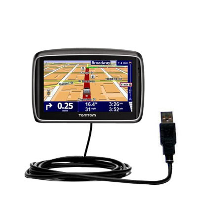 Classic Straight USB Cable suitable for the TomTom 740 with Power Hot Sync and Charge Capabilities - Uses Gomadic TipExchange Technology