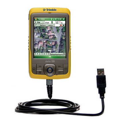 Classic Straight USB Cable suitable for the Trimble Juno SB with Power Hot Sync and Charge Capabilities - Uses Gomadic TipExchange Technology