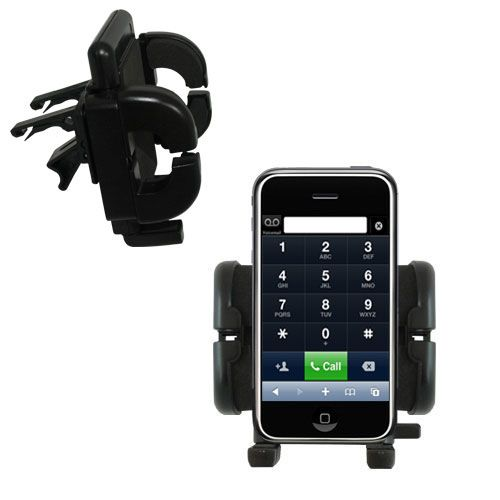 Gomadic Air Vent Clip Based Cradle Holder Car / Auto Mount suitable for the Apple iPhone - Lifetime Warranty