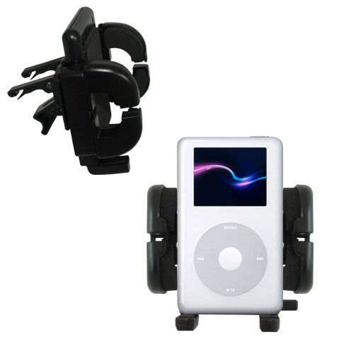 Gomadic Air Vent Clip Based Cradle Holder Car / Auto Mount suitable for the Apple iPod 4G (20GB) - Lifetime Warranty