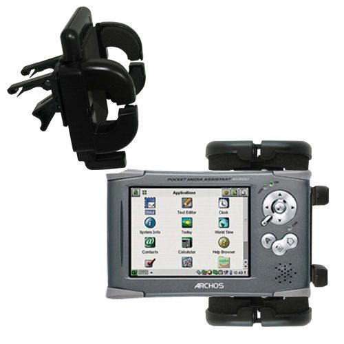 Gomadic Air Vent Clip Based Cradle Holder Car / Auto Mount suitable for the Archos PMA 400 - Lifetime Warranty