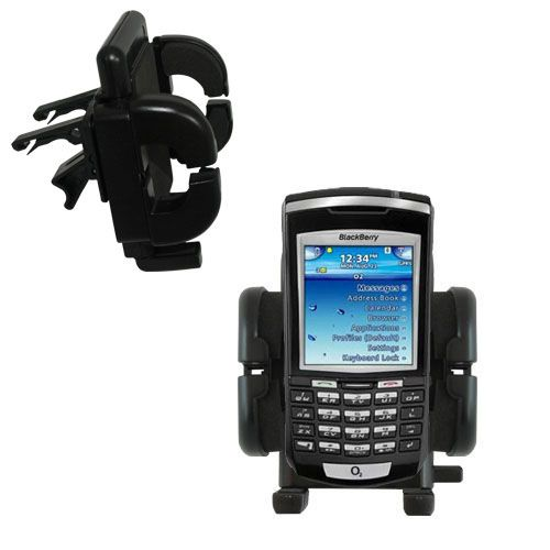 Gomadic Air Vent Clip Based Cradle Holder Car / Auto Mount suitable for the Blackberry 7100x - Lifetime Warranty
