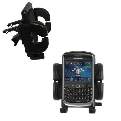 Gomadic Air Vent Clip Based Cradle Holder Car / Auto Mount suitable for the Blackberry 8900 - Lifetime Warranty