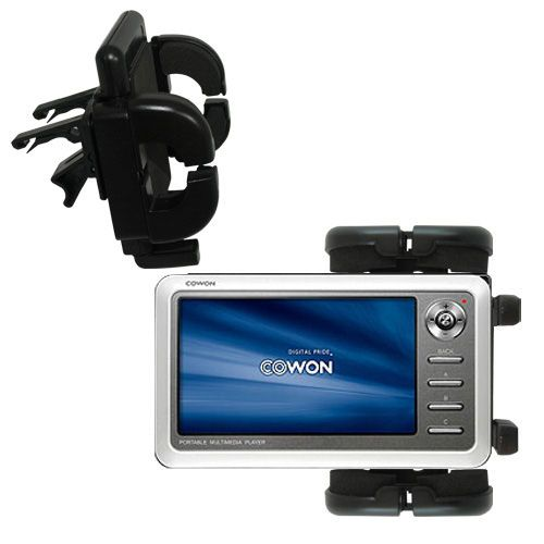 Gomadic Air Vent Clip Based Cradle Holder Car / Auto Mount suitable for the Cowon iAudio A2 Portable Media Player - Lifetime Warranty