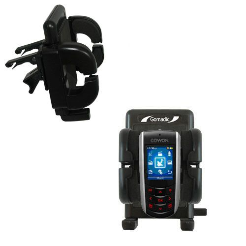 Gomadic Air Vent Clip Based Cradle Holder Car / Auto Mount suitable for the Cowon iAudio F2 - Lifetime Warranty