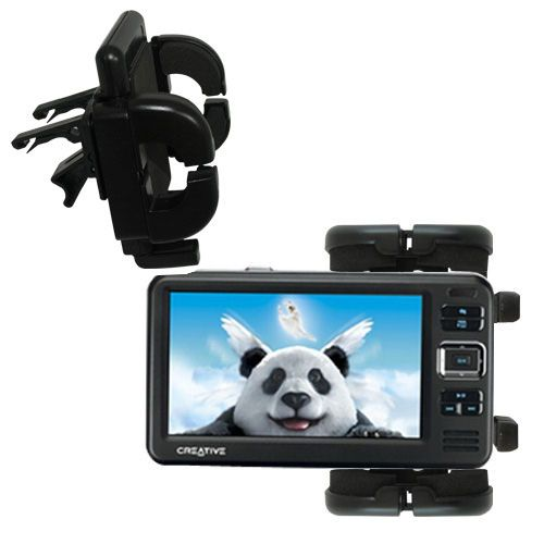 Gomadic Air Vent Clip Based Cradle Holder Car / Auto Mount suitable for the Creative Zen Vision W - Lifetime Warranty