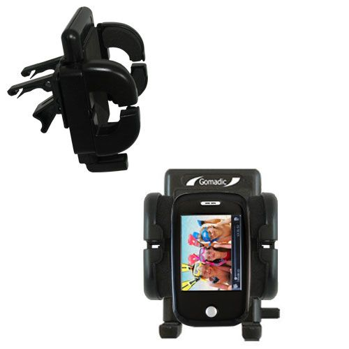 Gomadic Air Vent Clip Based Cradle Holder Car / Auto Mount suitable for the Ematic E6 Series - Lifetime Warranty