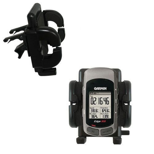Gomadic Air Vent Clip Based Cradle Holder Car / Auto Mount suitable for the Garmin Edge 305 - Lifetime Warranty