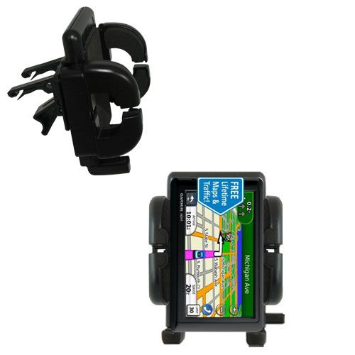 Gomadic Air Vent Clip Based Cradle Holder Car / Auto Mount suitable for the Garmin nuvi 1490LMT 1490T - Lifetime Warranty
