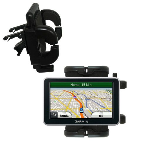Gomadic Air Vent Clip Based Cradle Holder Car / Auto Mount suitable for the Garmin Nuvi 2350 - Lifetime Warranty