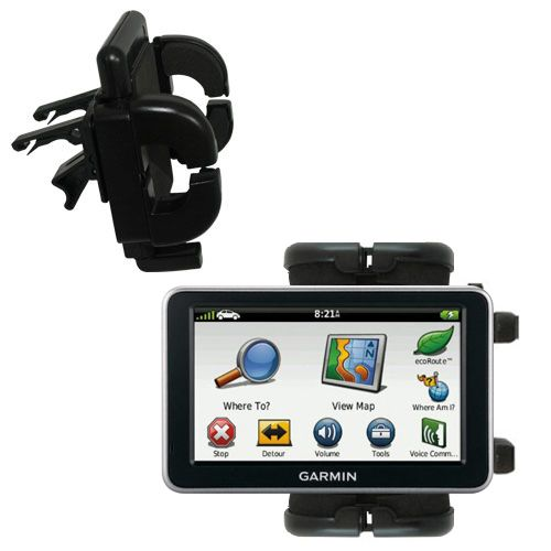 Gomadic Air Vent Clip Based Cradle Holder Car / Auto Mount suitable for the Garmin Nuvi 2460 2450 - Lifetime Warranty