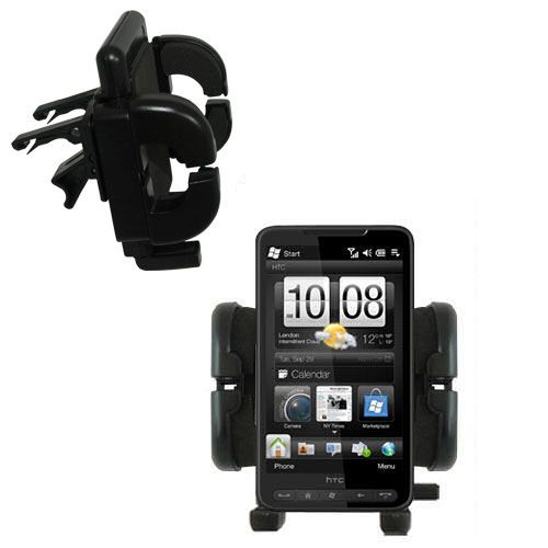 Gomadic Air Vent Clip Based Cradle Holder Car / Auto Mount suitable for the HTC HD2 - Lifetime Warranty