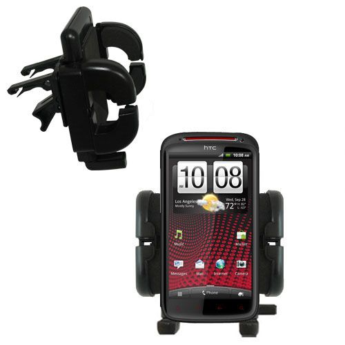 Gomadic Air Vent Clip Based Cradle Holder Car / Auto Mount suitable for the HTC Sensation XE - Lifetime Warranty