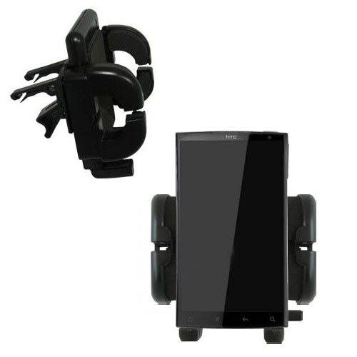 Gomadic Air Vent Clip Based Cradle Holder Car / Auto Mount suitable for the HTC Zeta - Lifetime Warranty