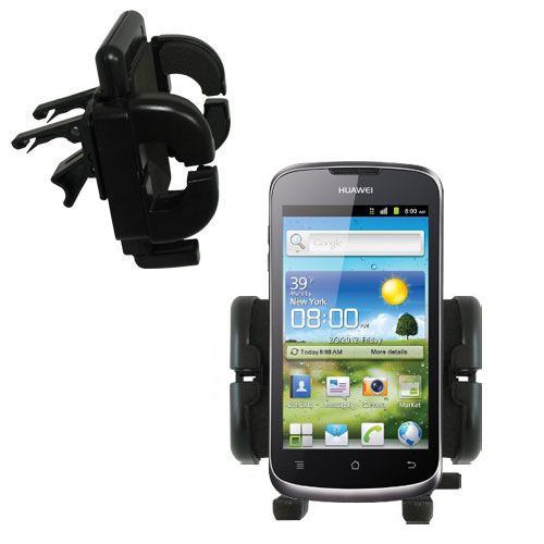 Gomadic Air Vent Clip Based Cradle Holder Car / Auto Mount suitable for the Huawei U8815 - Lifetime Warranty