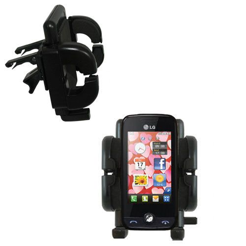Gomadic Air Vent Clip Based Cradle Holder Car / Auto Mount suitable for the LG Cookie Fresh (GS290) - Lifetime Warranty