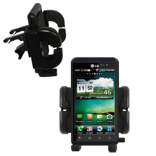 Gomadic Air Vent Clip Based Cradle Holder Car / Auto Mount suitable for the LG Thrill 4G - Lifetime Warranty