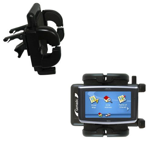 Gomadic Air Vent Clip Based Cradle Holder Car / Auto Mount suitable for the Magellan Maestro 3200 - Lifetime Warranty