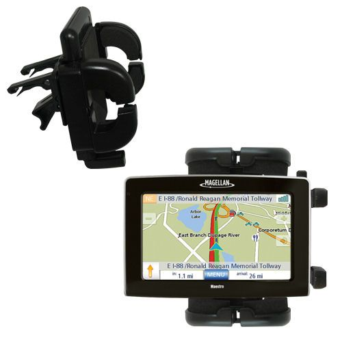 Gomadic Air Vent Clip Based Cradle Holder Car / Auto Mount suitable for the Magellan Maestro 4250 - Lifetime Warranty