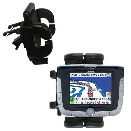 Gomadic Air Vent Clip Based Cradle Holder Car / Auto Mount suitable for the Magellan Roadmate 3000T - Lifetime Warranty