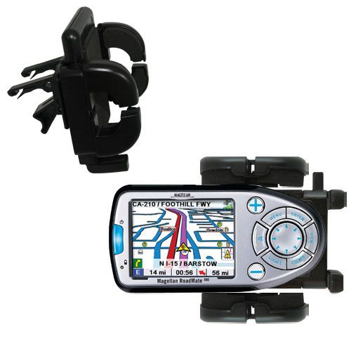 Gomadic Air Vent Clip Based Cradle Holder Car / Auto Mount suitable for the Magellan Roadmate 800 - Lifetime Warranty
