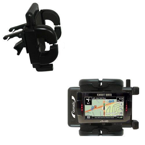 Gomadic Air Vent Clip Based Cradle Holder Car / Auto Mount suitable for the Mio Knight Rider - Lifetime Warranty