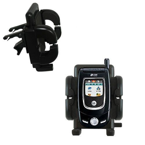 Gomadic Air Vent Clip Based Cradle Holder Car / Auto Mount suitable for the Motorola V557 - Lifetime Warranty