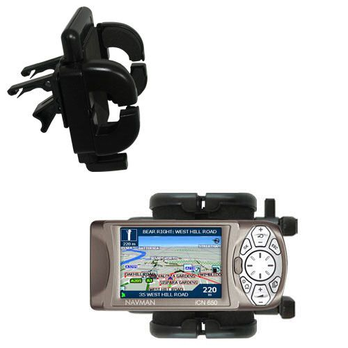 Gomadic Air Vent Clip Based Cradle Holder Car / Auto Mount suitable for the Navman iCN 650 - Lifetime Warranty