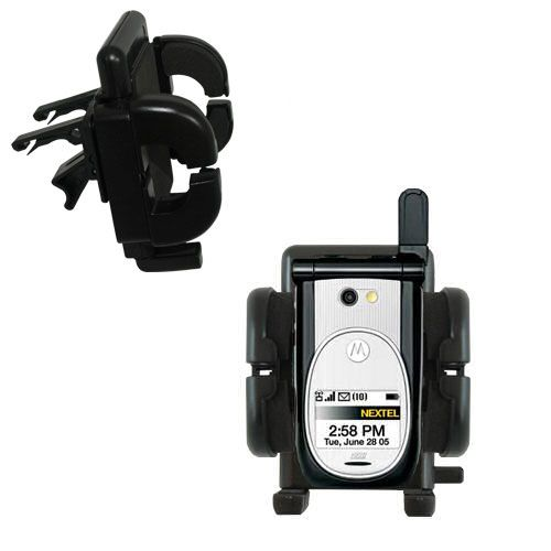 Gomadic Air Vent Clip Based Cradle Holder Car / Auto Mount suitable for the Nextel i920 i930 - Lifetime Warranty
